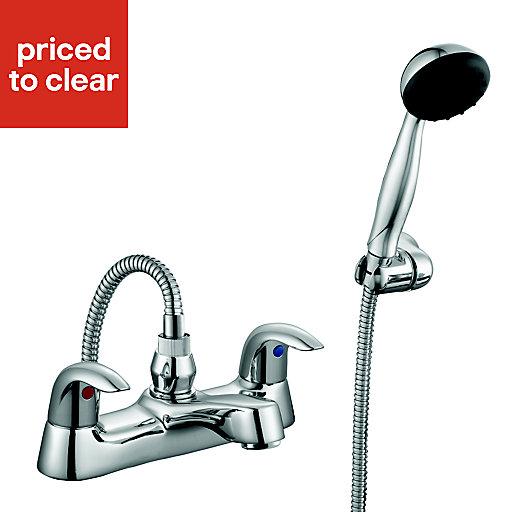Cooke & Lewis Wave Chrome finish Bath shower mixer tap £25 at B&Q