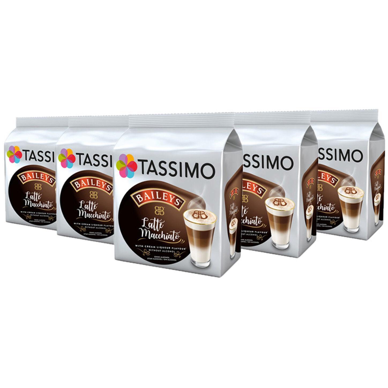 TASSIMO Latte Machiatto Baileys Coffee Pods T-Discs 5 pack, 40 Drinks - £9.99 @ luzerntech  eBayUK