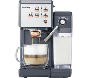 BREVILLE One-Touch VCF109 Coffee Machine - Graphite Grey & Rose Gold @ Currys Free Delivery £149