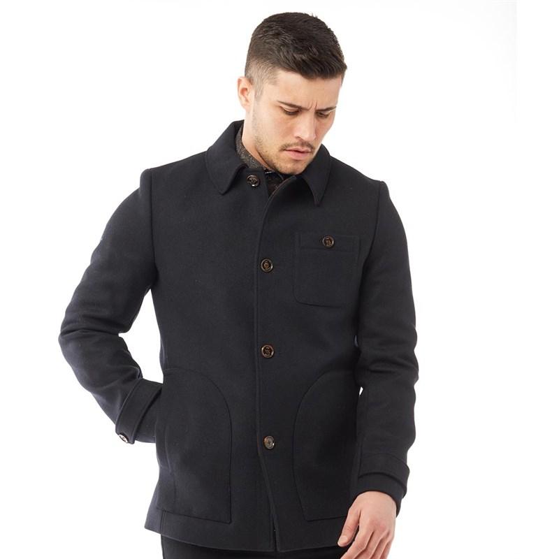 Ted Baker Men's 'Osmond' Patch Pocket Collared Overcoat - Navy  £79.98 Delivered @ MandM Direct
