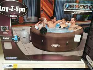 Riviera Lay-Z-Spa 4-6 person hot tub on clearance in Culverhouse Tesco for £315
