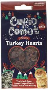 Cupid & Comet Rosewood Christmas Individually Sealed Packets For Cats 12 Pack £4.27 @ Amazon Add-on Items