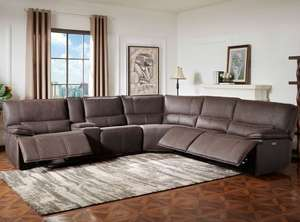 Kuka Bailey Fabric Power Reclining Sectional Sofa with power recliner amd charging port (& mains!) £1,199.99 @ Costco