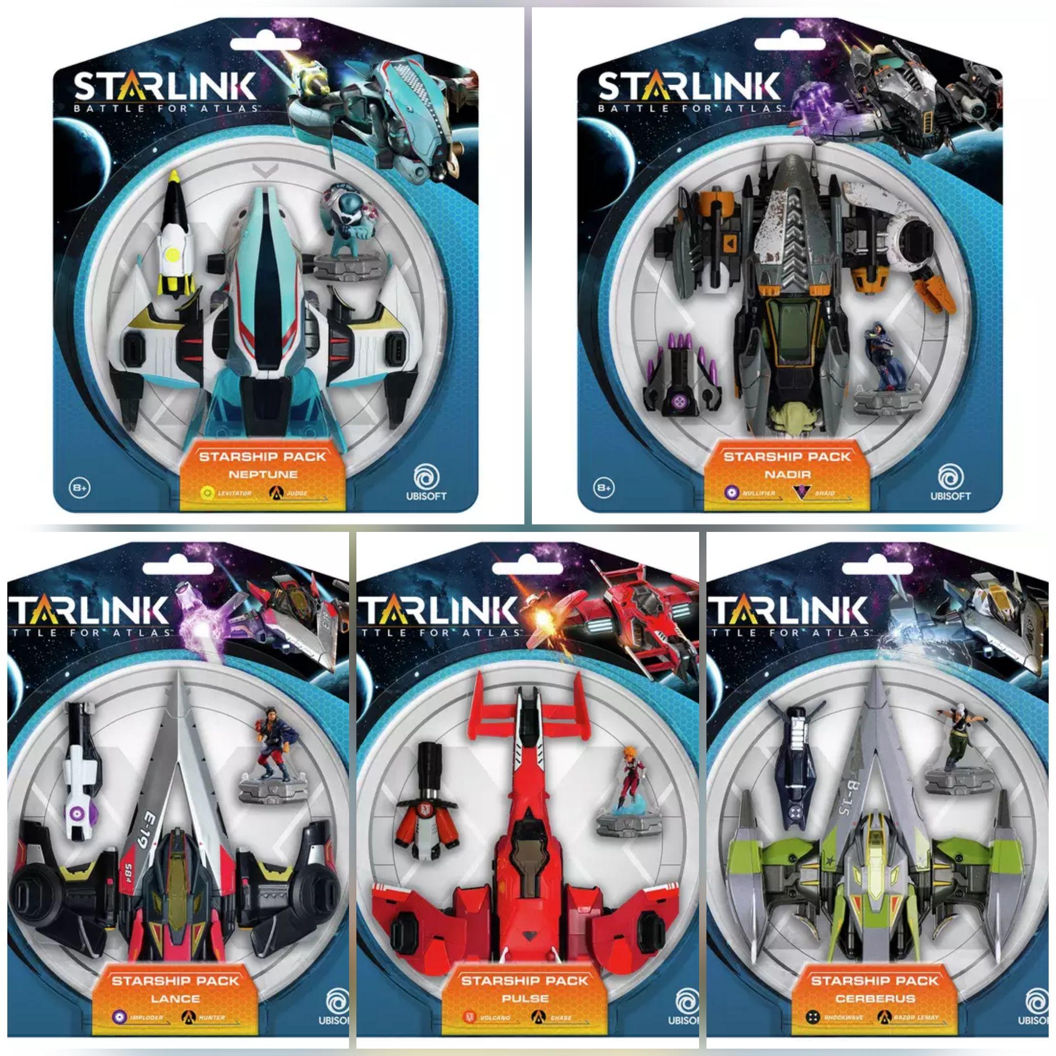 Starlink Battle for Atlas Starship Packs - Cerberus, Pulse, Lance, Nadir, Neptune. Packs Inc Ship, weapon & Character £8.49 each C&C @ Argos
