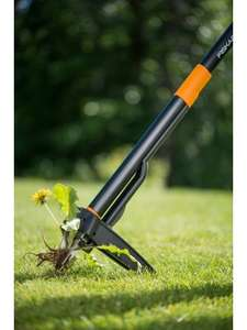 Fiskars Xact Weed Puller, Length: 1 m, Stainless Steel Handle/Plastic Handle, Black/Orange £31.50 at Amazon