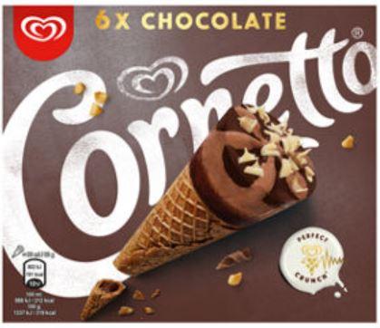 6 Chocolate Cornetto £1 @ Heron Foods
