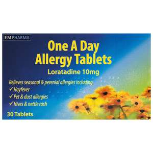 3 Month Hay-fever Relief (Loratadine EM Pharma) for £3 @ Bargain Buys in Slough!