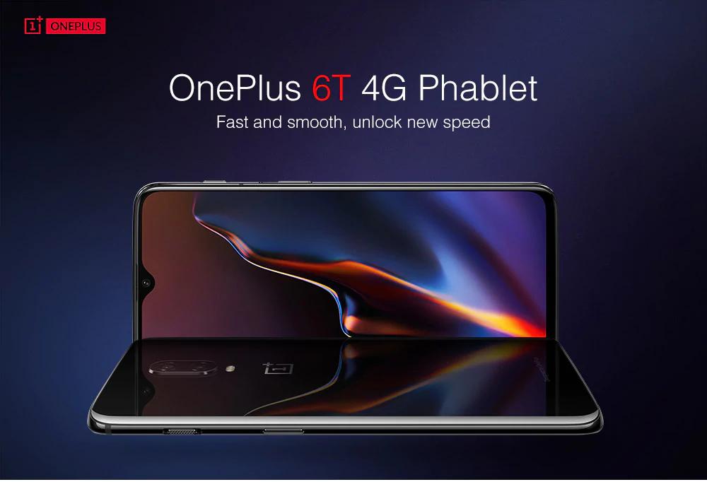 "OnePlus 6T 8GB 128GB 4G Phablet 6.41"" International Version Midnight Black Under Screen Fingerprint @ GearBest"
