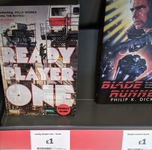 Ready Player One / Blade Runner Books for £1 instore @ Sainsbury's instore