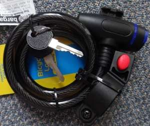 Cable bike lock - Home Bargains instore - £1.49