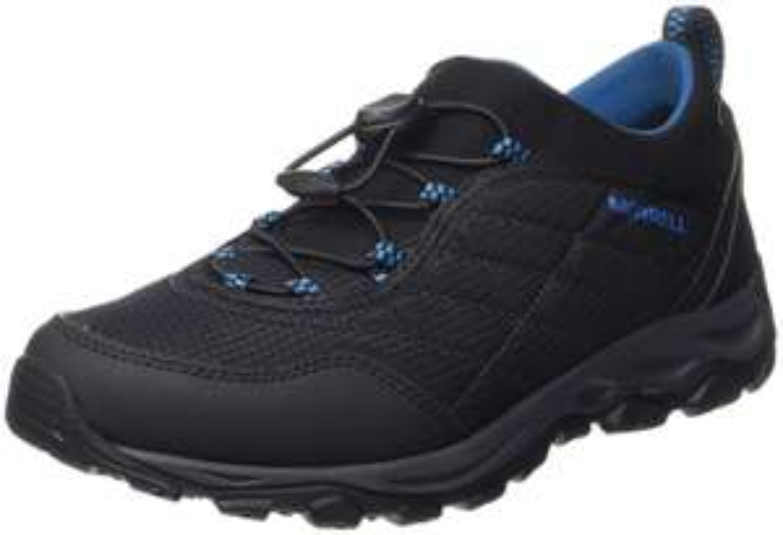 Merrell Men's Ice Cap 4 Strech Moc High Rise Hiking Boots Blue (Black/Mykonos Blue) - £34 @ Amazon