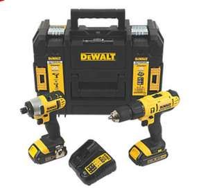 DEWALT DCZ298S2T-GB 18V 1.5AH LI-ION XR CORDLESS COMBI DRILL & IMPACT DRIVER TWIN PACK £149.99 Screwfix
