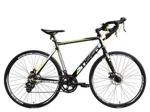 Tiger Quantum 4.0 Mens Road Bike Black/Green, Alloy Frame - 700c, 14 Speed - £239.99 @ e-bikesdirect