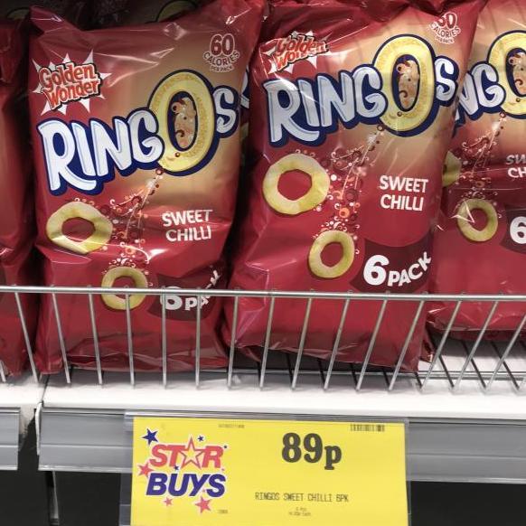 Sweet Chilli Ringos - 6 Pack 89p @ Home Bargains