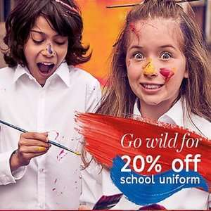 20% Off School Uniform @ M&S. Free next day C&C/ Free home delivery over £30