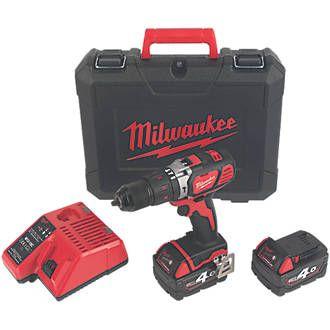 Milwaukee M18BPDN-402C 18V 4.0Ah Li-Ion RedLithium Cordless Combi Drill £169.99 @ Screwfix