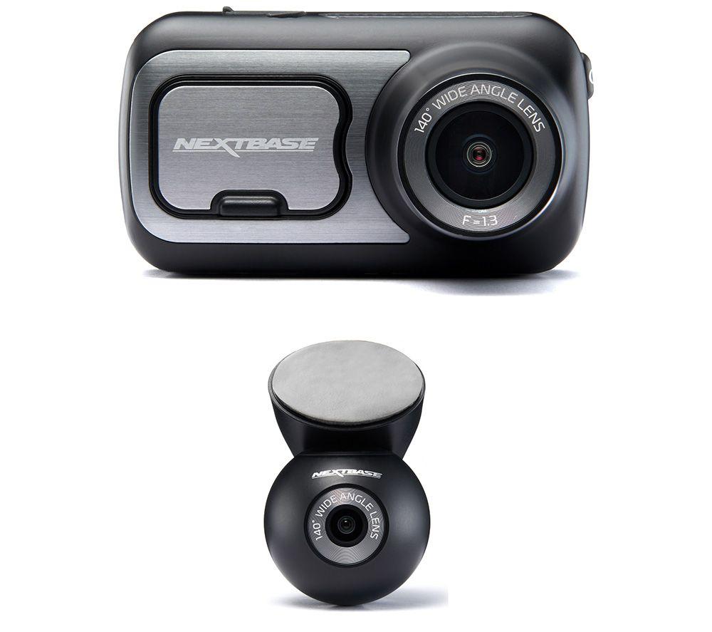 NEXTBASE 422GW Quad HD Dash Cam with Amazon Alexa & NBDVRS2RWC Quad HD Rear View Dash Cam Bundle - £154.00 @ Currys