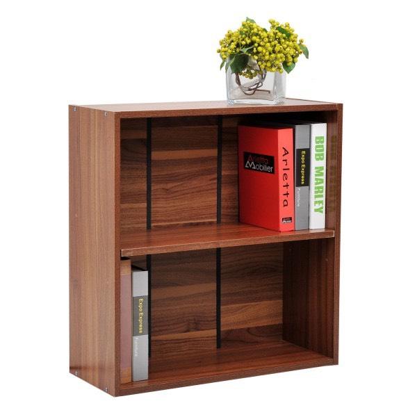 HOMCOM Wooden 2 Tier Storage Unit Cabinet Walnut - £18.39 (With Code) @ Aosom