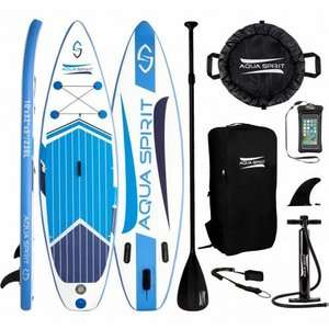 Adult Aqua Spirit 10ft ISUP Inflatable Stand Up Paddle Board with Paddle, Backpack & Leash £179.99 Delivered at Travel Luggage & Cabin Bags