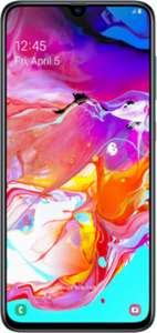Samsung A70 with 4GB data and unlimited minutes/texts for £23pm/24m + £25 upfront at Mobiles.co.uk