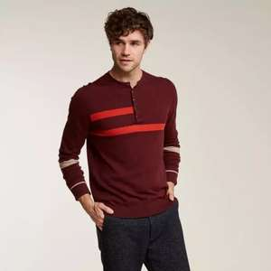 Fat Face - Men's Folk red Henley jumper with stripes - Free C&C £16 @ Fat Face