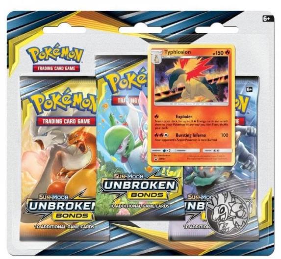 Pokemon Unbroken Bonds booster triple £6 in Sainsburys
