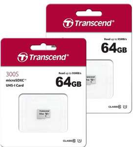 2 X 64GB(£6.99 each)Transcend Micro SDXC Micro SD Card Class 10 UHS-I U1 95MB/s - 64GB for £13.98 (3 Pack £19.95) Delivered @ 7Dayshop