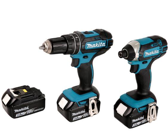 Makita DLX2131JX1 18V Li-Ion Cordless Combi Drill & Impact Driver Twin Pack 3 x 3.0Ah £239.98 Toolstation