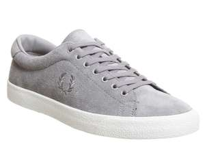 Office Shoes - Size 8 Fred Perry Underspin Trainers (Falcon Grey) - Reduced From £69.99 To £25 - Free C&C