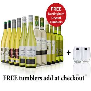 12 bottles of wine for £49.99 and two free glasses at Sunday Times Wine Club