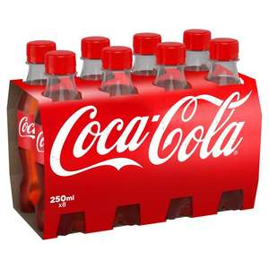 Coca Cola minis 8x250ml bottles now £3.50 (was £5) at Morrisons instore & online. Diet Coke available for £3.25 (was £4.50)