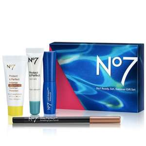Spend as little as £9.90 (buying 2 No7 items)  and get a FREE No7 Ready, Set, Summer gift @ Boots