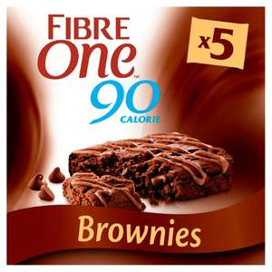 Fibre One Chocolate Fudge Brownie Bars 5X24g - £1.50 at FarmFoods