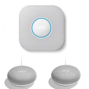 NEST Protect 2nd Gen Smoke & Carbon Monoxide Alarm + Two Google Home Minis £99 Delivered / Battery Version £109 @ Currys - SEE OP