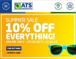 10% off all online booking at ATS