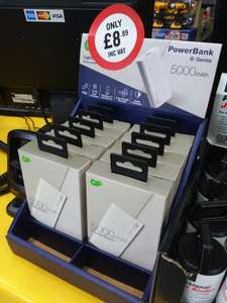 5000mAh Powerbank £8.89 in Toolstation