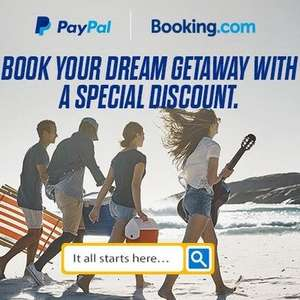PayPal - Eligible customers save £20 / €20 at Booking.com on £150 / €150 spend