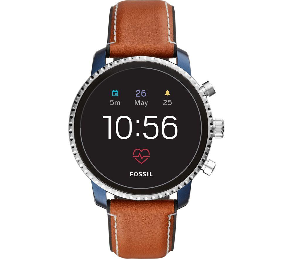FOSSILQ Explorist HR FTW4016 Smartwatch - Leather Strap £179 @ Currys PC World