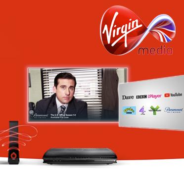 Virgin Media Big bundle. Vivid 100 , Mixit TV package with over 110 channels & line rental. £29 a month/12 months + £25 Setup Fee