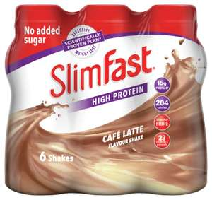 SlimFast Café Latte Ready To Drink Shakes 6x325ml £7.99 Argos