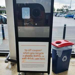 Earn money off for recycling at Sainsburys - 5p off coupon when you recycle a plastic drink bottle or soft drink can