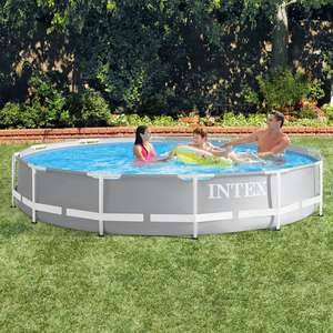 Intex 12ft (3.7m) Round Prism Frame Pool with Pump £99.99 Delivered + Poss Freebie  w/code See OP @ Costco