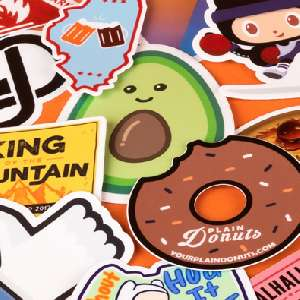 """10 Custom 3"""" x 3"""" die cut stickers for approx 79p +  FREE delivery @ Stickermule"""