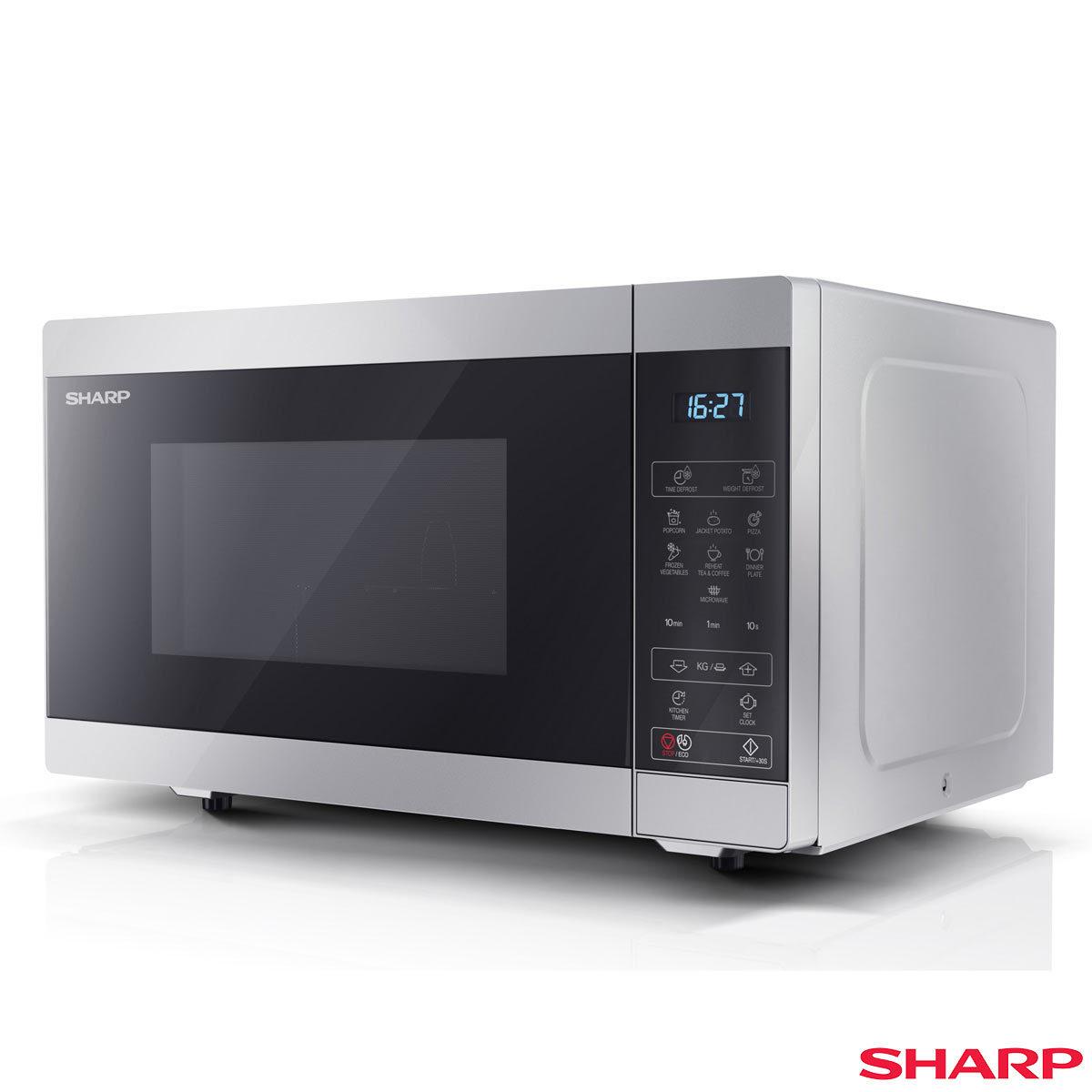 Sharp Yc Ms51u S 25l 900w Digital Solo Microwave In Silver