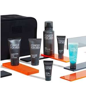 Free Men's Travel Kit worth £39 when you buy 2 Clinique for Men products + Free Sample + Free Delivery @ Clinique