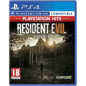 PLAYSTATION HITS - RESIDENT EVIL 7 BIOHAZARD PS4/PSVR for £9.99 Free C&C @ Game