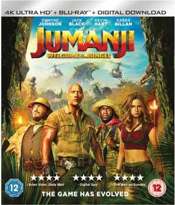 Jumanji Welcome To The Jungle 4K UHD Blu-ray Atmos Sound + Slipcover Brand New & Sealed £8 @ ebay/fask77