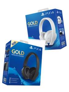 PS4 PlayStation Gold Wireless Headset Black/White £49.85 delivered @ Shopto