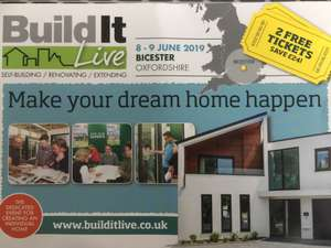2 tickets for Buildit show Bicester 8&9 June