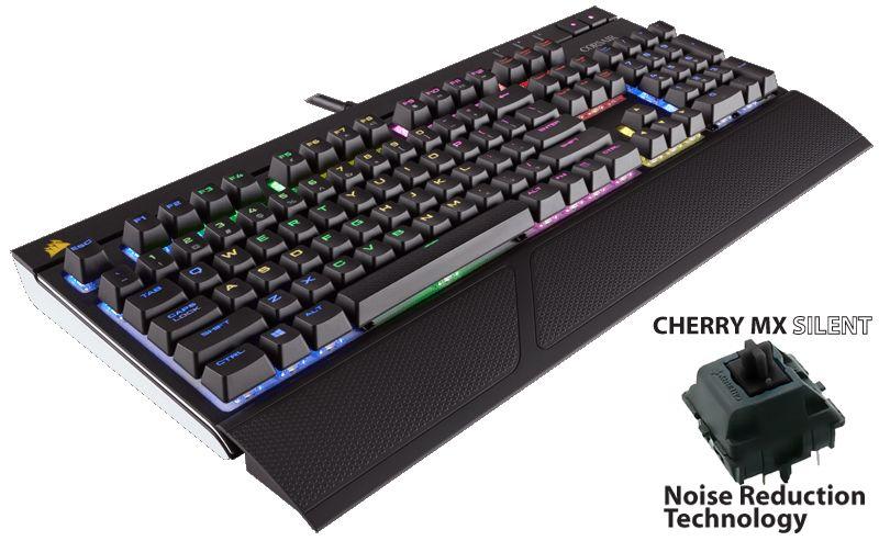Corsair Gaming STRAFE RGB Mechanical Gaming USB Keyboard Cherry MX Silent - CH-9000121-UK - £79 @ AWD-IT